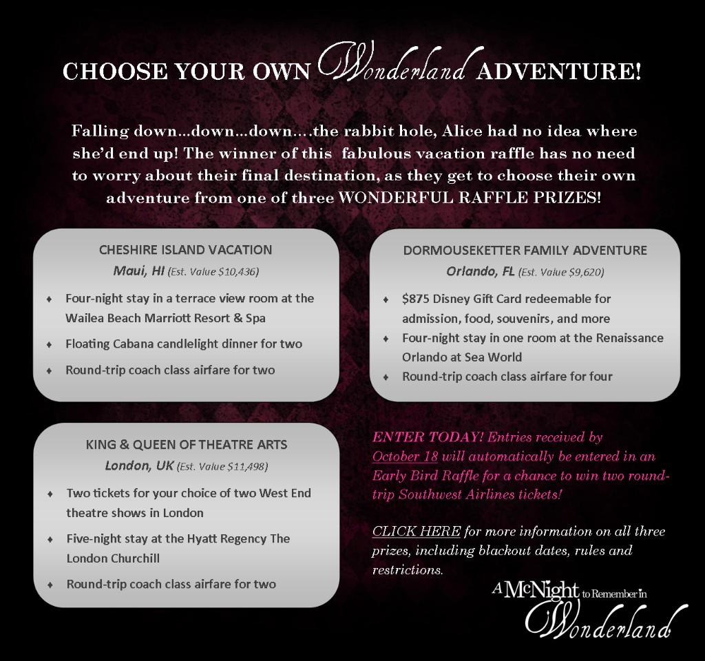 Choose Your Own Wonderland Adventure Raffle -